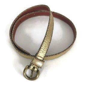 Fossil Womans Belt Gold Studded Casual Dress Belt